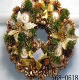 Guirnalda de madera hecha a mano de la decoración de la Navidad (JG653)