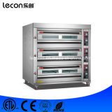 Industrieller 3 Tellersegment-Brot-Backen-Gas-Pizza-Ofen der Plattform-9