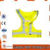 Veste reflexiva amarela do corredor da segurança para a proteção da segurança de estrada