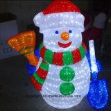 Luz impermeable del muñeco de nieve de la decoración LED de la Navidad del proyecto de la iluminación