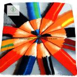 Châle épais de satin de Madame Scarf Colorful Pencil Printed de mode