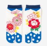 Цветные яркие из жаккардовой ткани с рисунком Tabi Socks 2-носком Sock