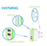 5V 2.1A Dual USB OEM Colorido Alta Qualidade EU UK Us Plug para iPhone / Samsung / Huawei