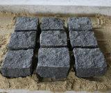 Flagstone nero naturale del cubo del basalto G684 con fiammeggiato e spaccato emerso per il patio/giardino