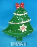 Biscotto dell'albero di Natale/piatto di ceramica dipinti a mano grafico a torta/della caramella
