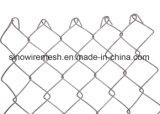 Rete fissa rivestita provvisoria lavorata a maglia galvanizzata tuffata calda di collegamento Chain del PVC