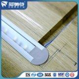 Perfil de alumínio anodizado para o sistema de iluminação do assoalho do diodo emissor de luz