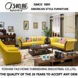 Sofá de couro genuíno de estilo americano para móveis de casa (AS846)