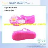 Lovely Baby Girls Matériel en PVC Jelly Sandals avec des décorations de fleurs de gelée
