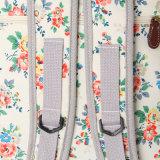 Sac à dos blanc de PVC de configurations florales imperméables à l'eau de toile (23262)