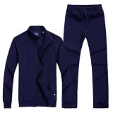 Vêtements professionnels 100% coton 280GSM Men Blank Sports Zipper Sweatsuit