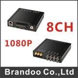 Rectángulo negro 3G DVR del coche 8CH del H. 264 con WiFi/GPS