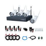 La venta directa de 4 canales CCTV 1080P Sistema Inalámbrico NVR kits para uso en interiores