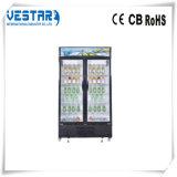 Vitrine porte en verre réfrigérateur Wtih R134A