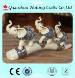 Figurines pequenos do elefante da resina do estilo europeu para a decoração Home