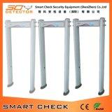 Grille cylindrique de détecteur de métaux de passage arqué de grille de détecteur de métaux de 6 zones