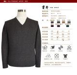 Pullover lavorato a maglia collo lungo del manicotto V di autunno degli uomini rossi del vino Bn1271