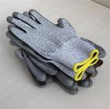 13 Индикатор повышенной прочности с PU покрытием перчатки разрез на уровне 3