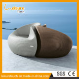 Style chinois Round Tai Chi Shape Pool Meubles de jardin Rattan Leisure Lounger Chair Daybed Sunbed