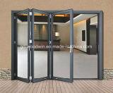 Складчатость стекла двойной застеклять алюминиевая/Bifold дверь/дверь Bifolding