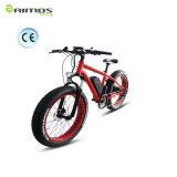 E-Bicicleta gorda del neumático de la montaña azul del color para el camino de la nieve