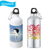 Botellas de agua de sublimación de aluminio en blanco 600ml botella