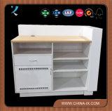Compteur de contrôle en bois avec tiroir et casier