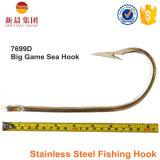 Tipo d'argento amo di pesca 7699d di angolo dell'acciaio inossidabile di colore