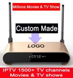 顧客用自由なIPTV 2GB 16GB SATAのハードディスク2tb S912 Octacore 5g WiFi Android7.1 TVボックス監視何百万の映画及びTVショーH2+