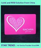 Valentinsgruß-Karte bildete Plastik mit magnetischem Streifen