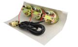 Das LED-Mehrfachverbindungsstellen-und Kombinations-Anzeigeinstrument mit schwarzem Vorwahlknopf