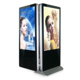 55inch Dual-Sided все в одной рекламируя панели LCD
