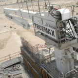 Colocação de betão hidráulico das máquinas da Barra (32m) 2
