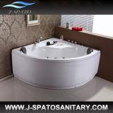 カップル、鉱泉の温水浴槽、贅沢な渦(JS-8026)のための角の渦の浴室