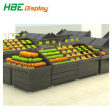Supermercado Expositor de almacenamiento de verduras frutas