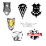 Emblema cromado modificado para requisitos particulares de la divisa 3D y de las escrituras de la etiqueta con diversa pintura del color (HXC2043)