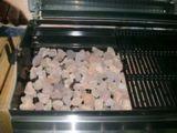 Roche de lave rouge pour un barbecue à gaz (Q006)