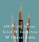 SYV-75-100Ω solide de la série PE Câble coaxial RF diélectriques