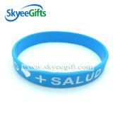 Buntes Silikonwristband-Armband mit kundenspezifischem Firmenzeichen