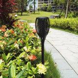 屋外96LED庭の太陽トーチライトヤードの休日のパーティのためのリアルな炎が付いている太陽芝生ライトパスのLanscapeランプ