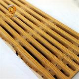 Charmante Décoration de plafond acoustique de bois en bois d'effet de bord