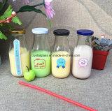 Kaffee-Tee-Milch-Glas-Verpackungs-Flasche mit Metalschliessen