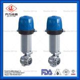 Aço inoxidável sanitárias pneumáticos/Válvulas Borboleta Soldadura Manual/Thread/apertadas