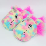 Lindo personaje de dibujos animados animales Unicornio pies zapatillas de felpa Toy