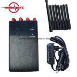 8 bandas de alta potencia Jammer portátil de alta potencia, teléfono celular Jammer, Jammer para todo celular, control remoto, radio VHF/UHF Jammer/Blocker