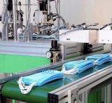Vollautomatische chirurgische nichtgewebte Gesichtsmaske, die Maschine mit Ultraschall für Verkauf herstellt