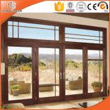 多重木製種かカラーまたは形のカスタマイズされた純木の覆われた熱壊れ目のアルミニウムによって蝶番を付けられるドアのドア
