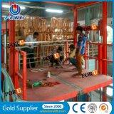 2500kg 4m Scissor hydraulisches elektrisches Lager-Material Ladung-Aufzug