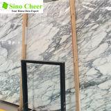 磨かれた白い平板のArabescatoの装飾のための大理石の平板のタイル