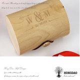 Rectángulo de regalo de empaquetado de madera redondo de Macaron de la alta calidad del precio al por mayor de Hongdao para el _E de la venta